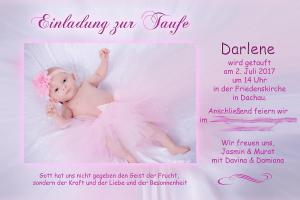 Einladung Taufe Darlene
