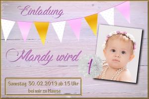 Mandy 1.Geb Einladung